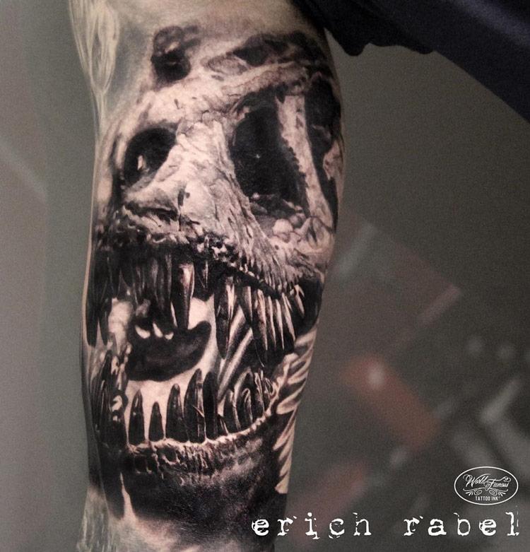 1d7d1a87a T-Rex Skull   Best tattoo design ideas