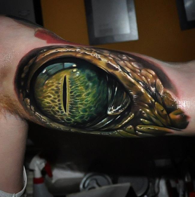 Alligator Eye Tattoo