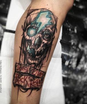 Long Live Rock 'N Roll Skull