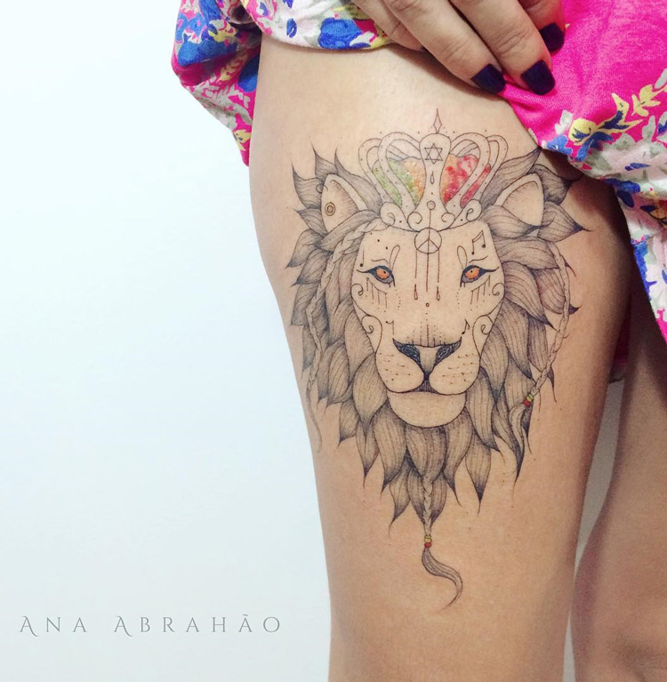 Reggae Lion Tattoo