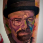 Heisenberg Watercolor Portrait