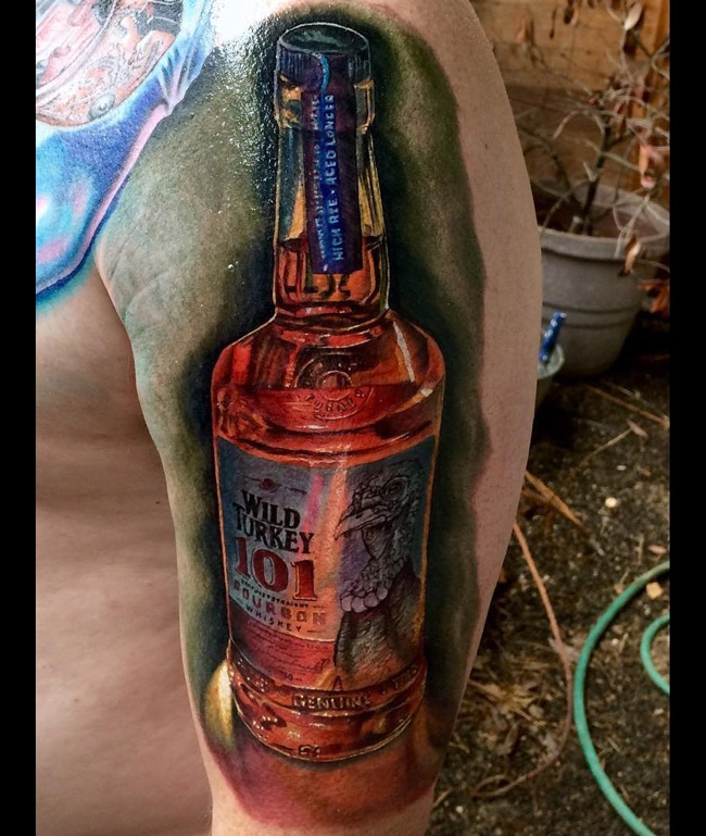 Wild Turkey Bottle Tattoo