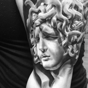 Black & White Medusa