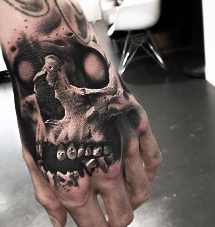 evil skull hand tattoo best tattoo design ideas