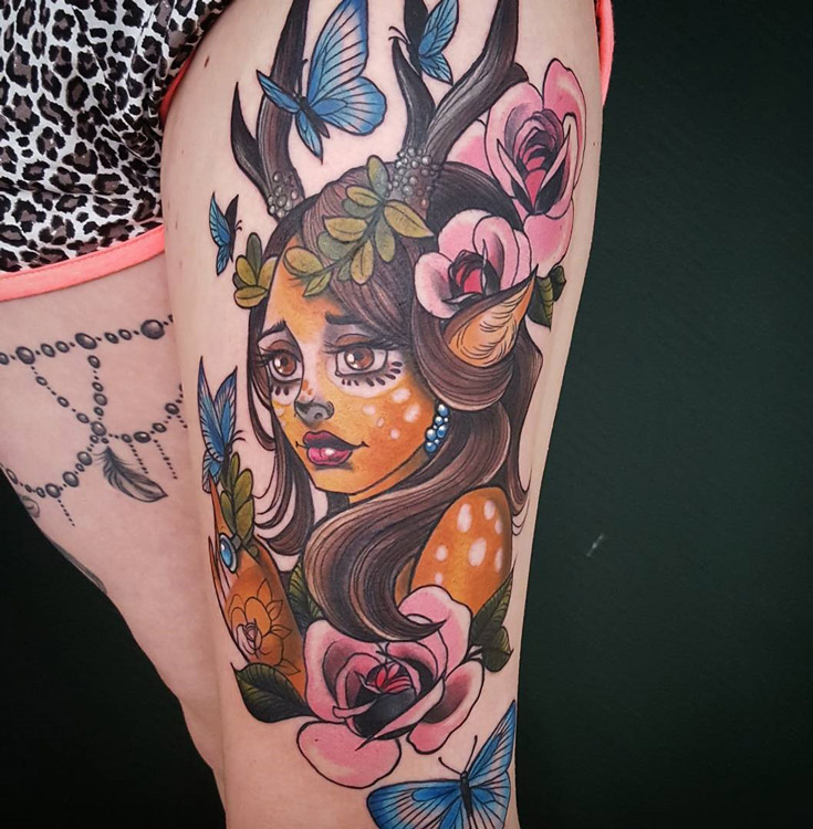 Faun Girl Tattoo