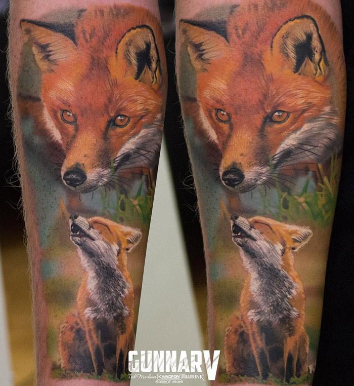 Realistic Fox forearm Sleeve