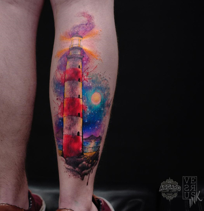 Colorful Freehand Lighthouse