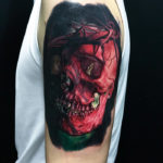 Jesus skull tattoo