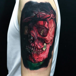 Jesus Skull & Crown of Thorns