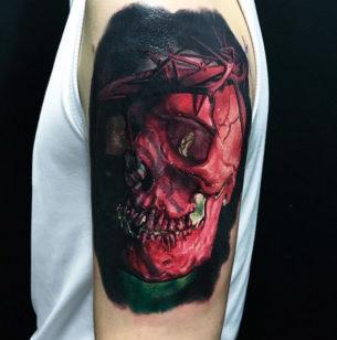 Jesus Skull & Crown of Thorns