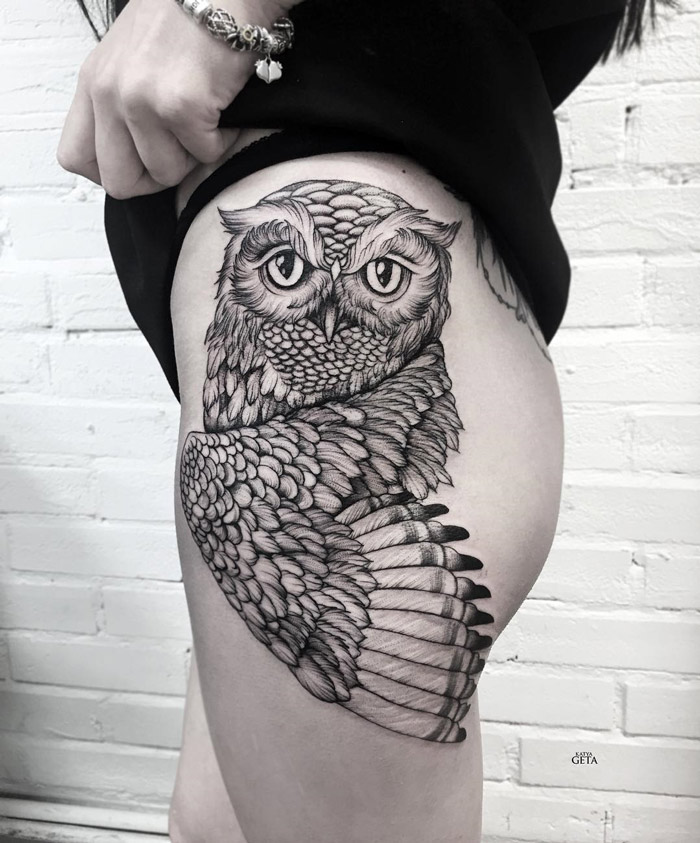 Owl On Hip