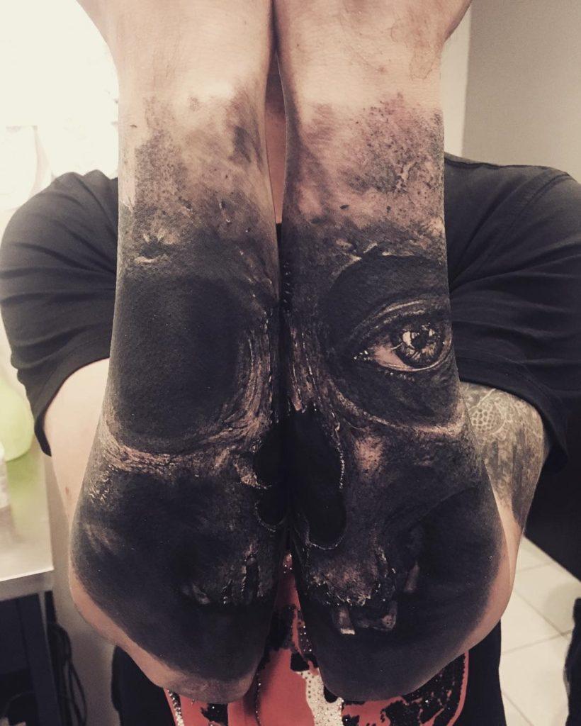 Creepy Skull Tattoo
