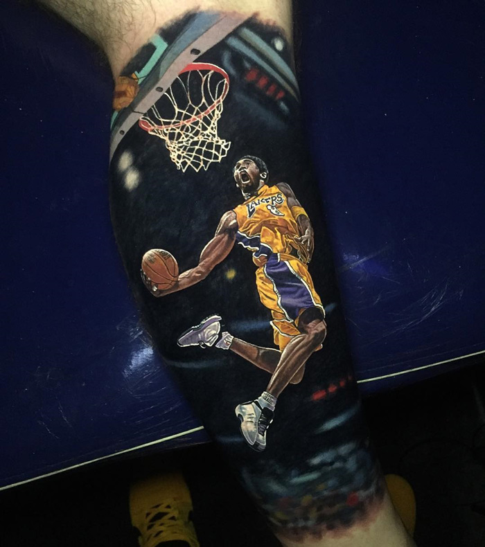 Frobe LA Lakers tattoo