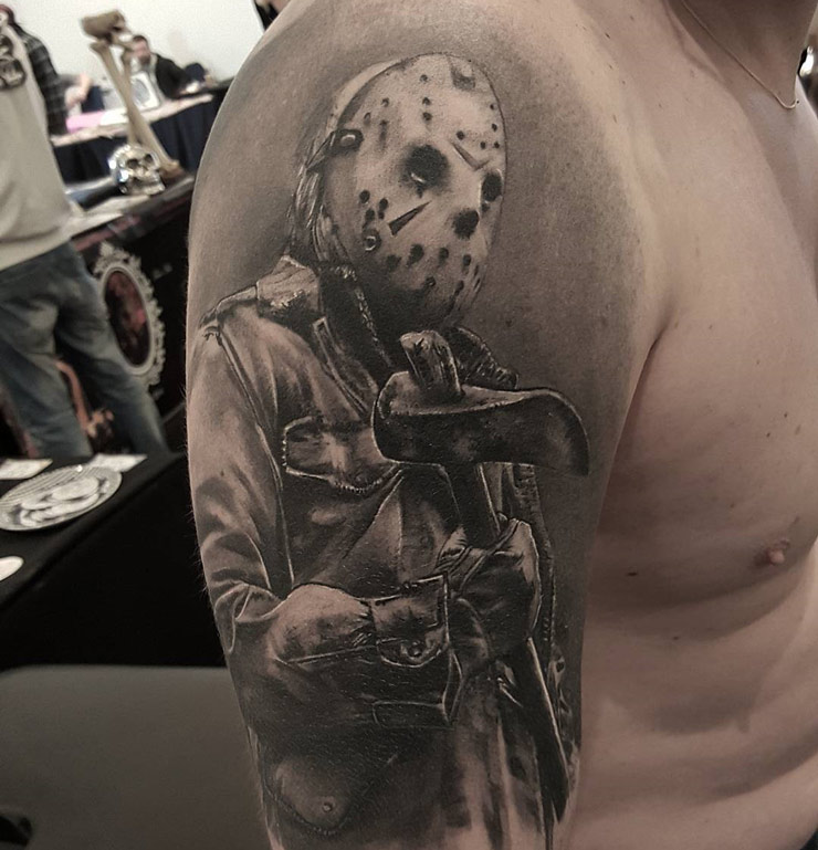 Jason horror tattoo