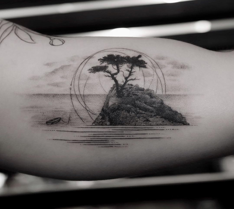 Lone Cypress Tattoo