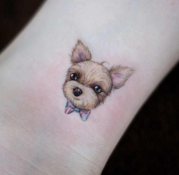 Cute Pet Dog Tattoo