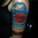 Rose Meditative by Salvador Dali Tattoo