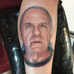Hannibal Lector portrait tattoo