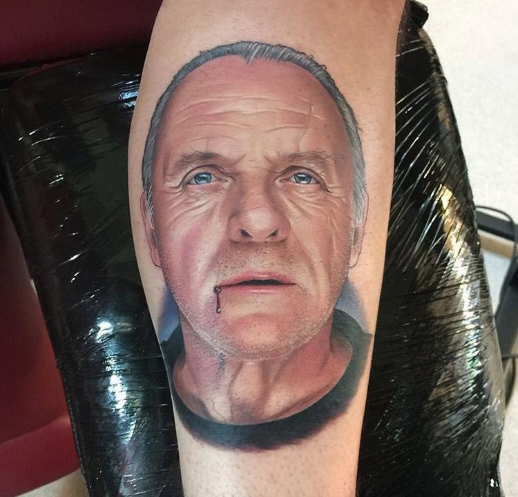 Hannibal Lector portrait tattoo