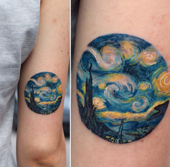The Starry Night, Vincent Van Gogh Tattoo