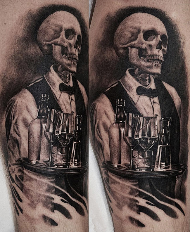 Death Waiter Tattoo