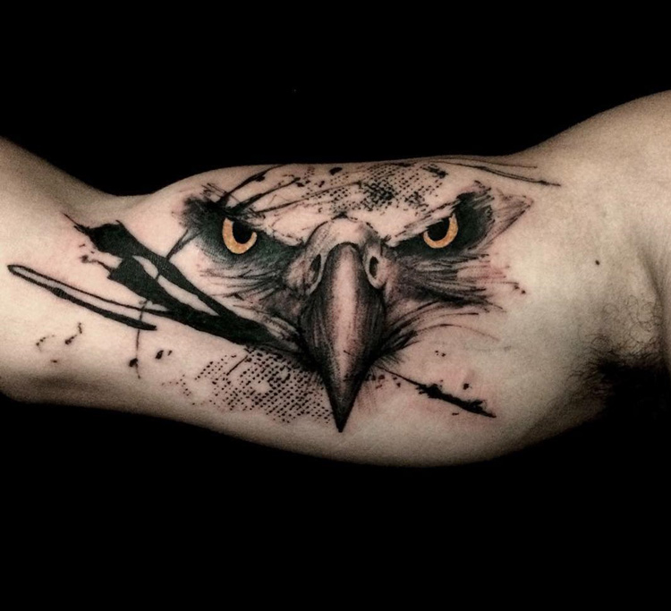 Eagle Bicep Tattoo