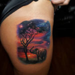 African Sunset Tattoo