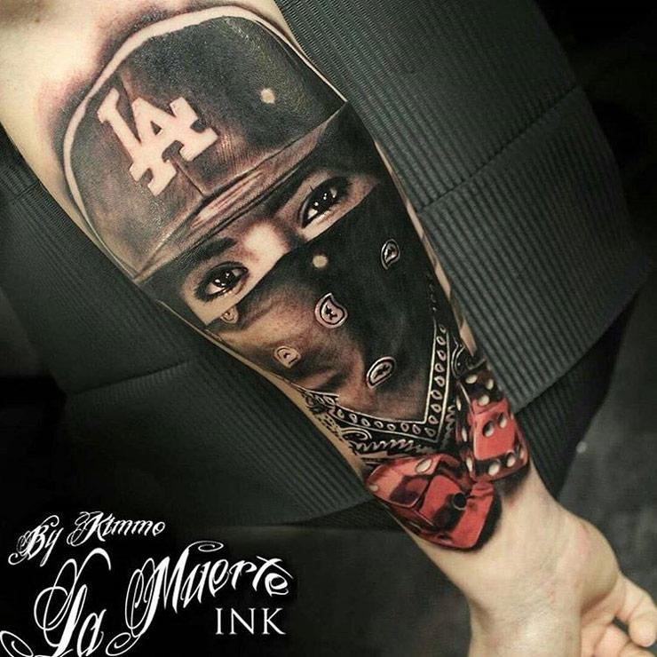 gangster girl on guys forearm best tattoo design ideas. Black Bedroom Furniture Sets. Home Design Ideas