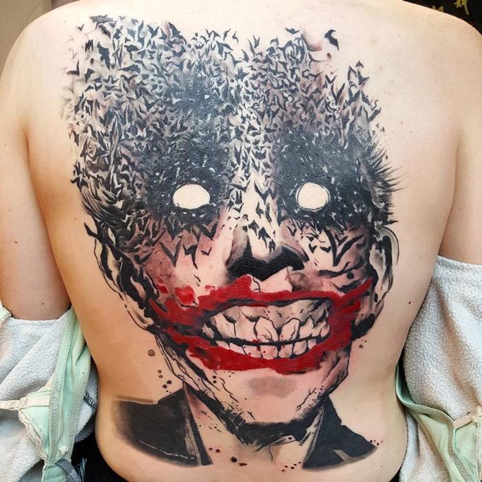 Abstract Joker Back Piece