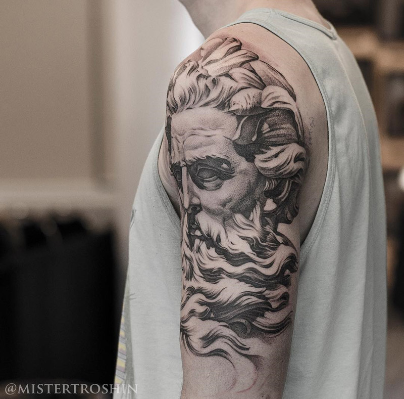 Neptune Arm Tattoo