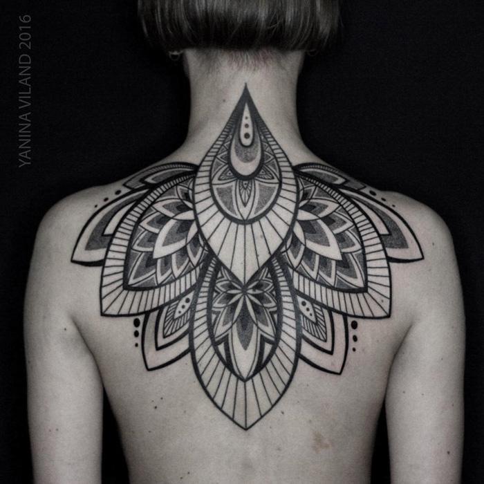 Ornamental Back Tattoo