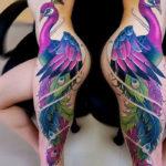 Peacock Side Tattoo
