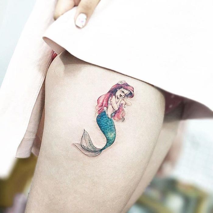 Princess Mermaid Tattoo