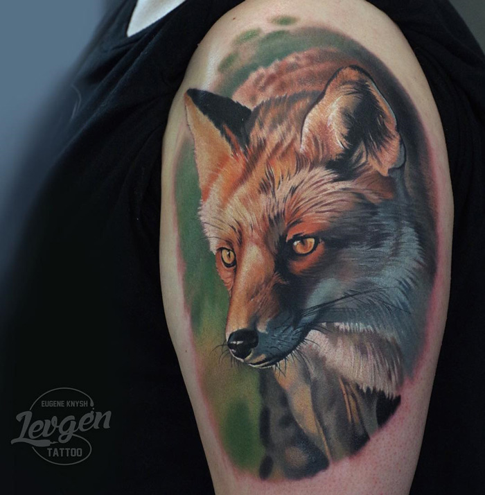Fox Upper Arm Tattoo