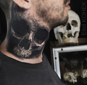 Realistic Skull Guys Neck