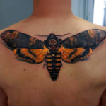 Death's-Head Hawkmoth Back Tattoo