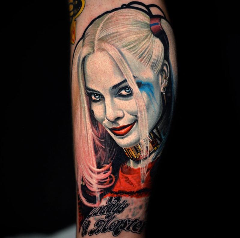 Harley quinn from suicide squad best tattoo design ideas for Suicide squad face tattoo