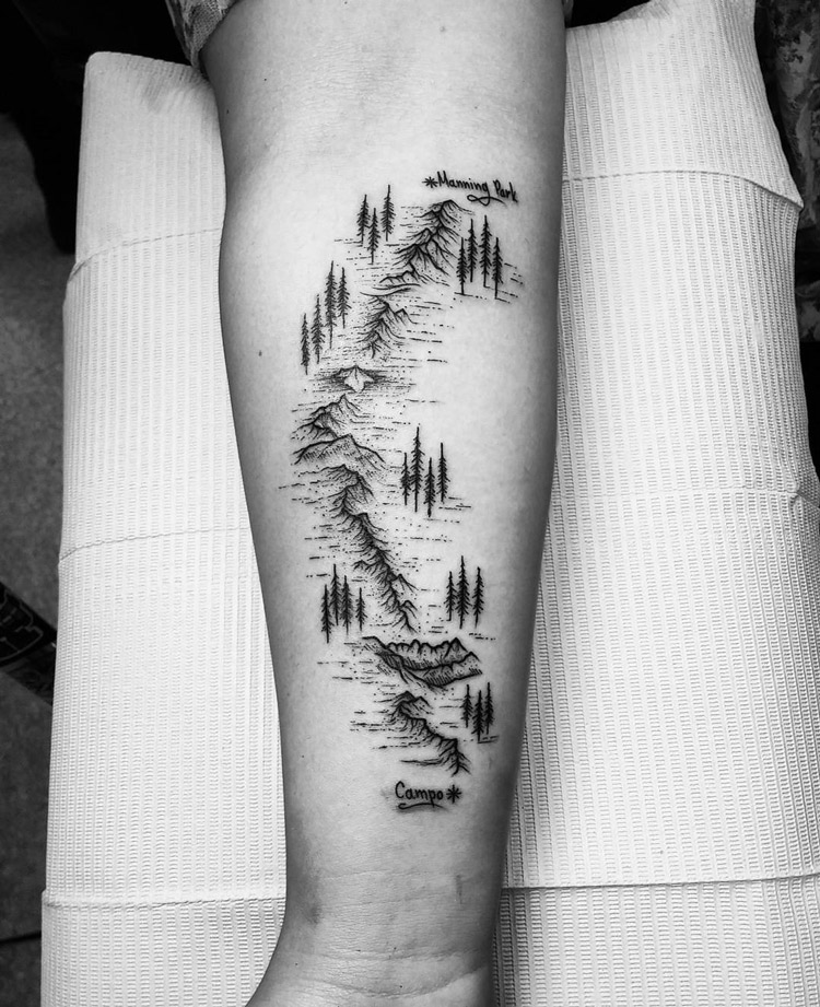 Pacific Crest Trail Tattoo