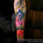 Butterfly & Poppy Tattoo
