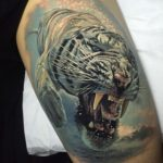 Diving Tiger Tattoo