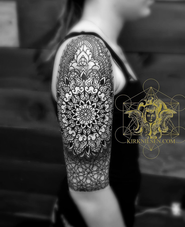 Intricate Upper Arm Mandala