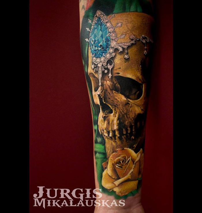 Jewelled Skull Tattoo