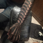 Spine, Rib Cage & Hand Bones Tattoo