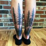 Trees back of girls legs