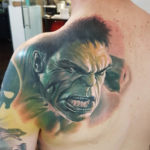 Incredible Hulk Back Tattoo