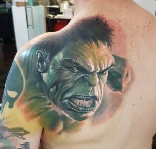 Incredible Hulk Realism Back Piece