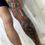 Rubik's Cube Leg Tattoo