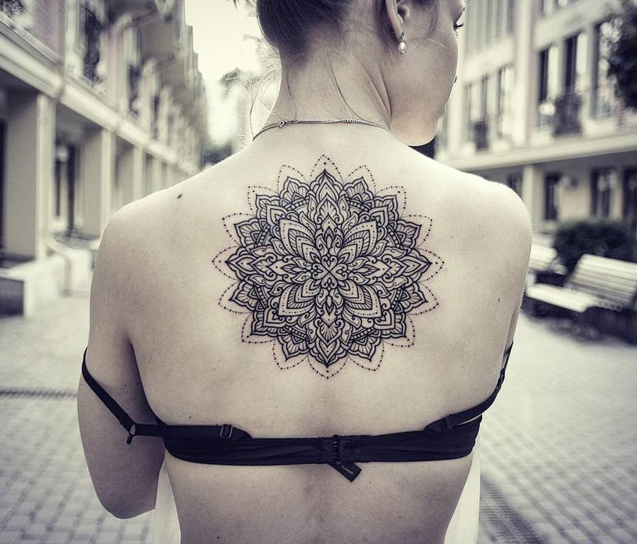 Mandala Back Tattoo