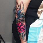 Dragonfly & Flower