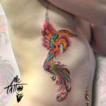 Phoenix Side Tattoo